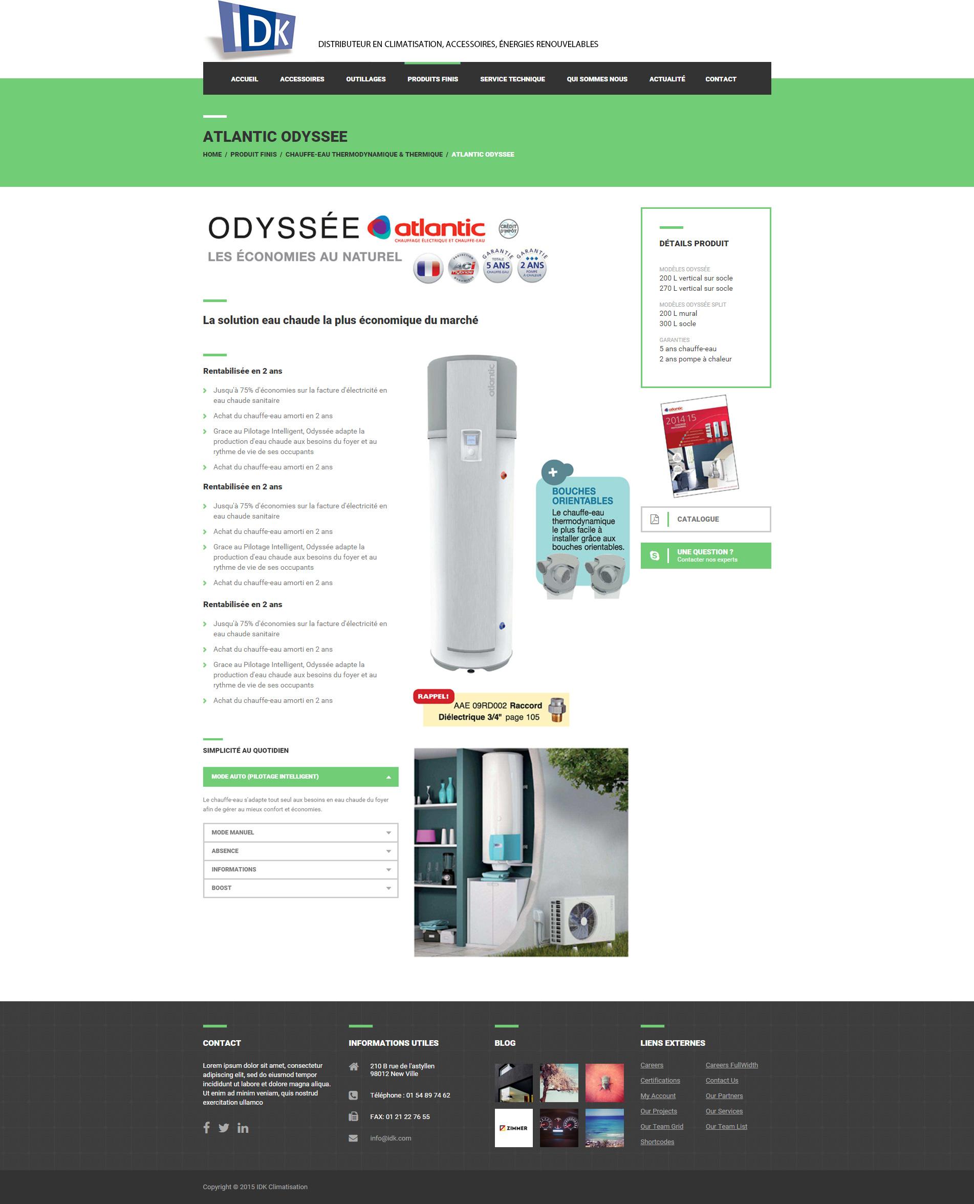 Product page IDK desktop